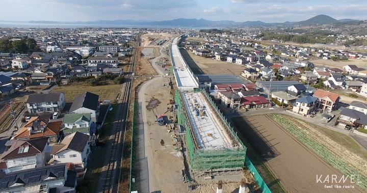 新幹線工事風景