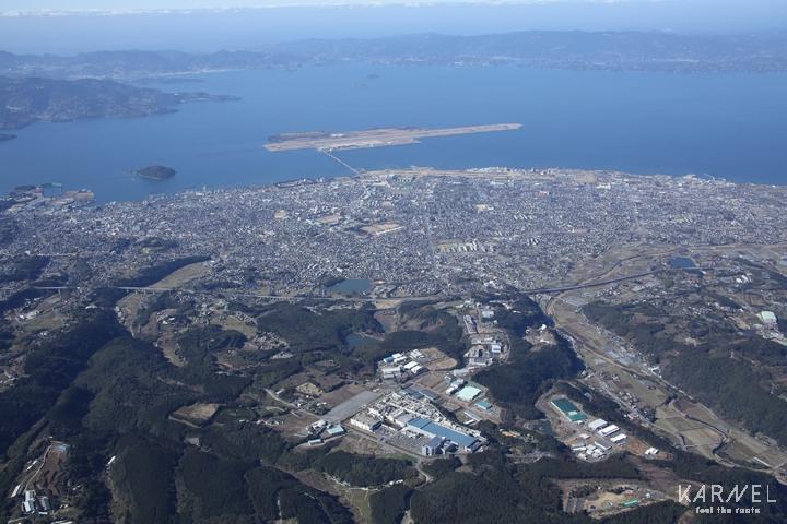 市内の風景(航空写真)